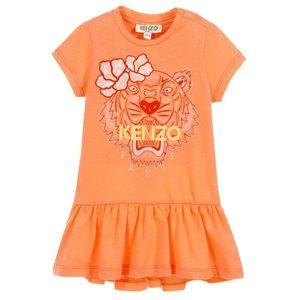 Kenzo Kids Girls Orange Tiger Dress